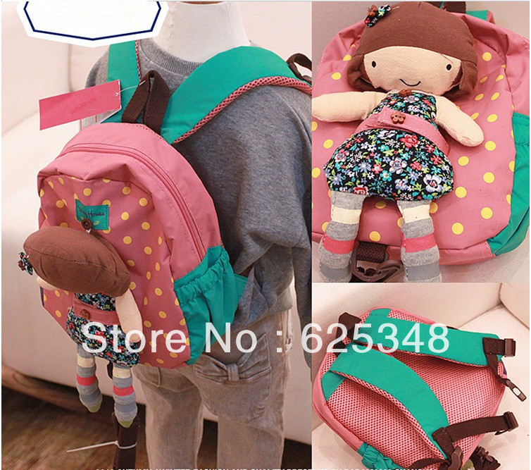 2015 New Little Girls Toy Children School bag Toddler Kids Baby Cartoon Backpack School bag Shoulder Bags for Girls(China (Mainland))