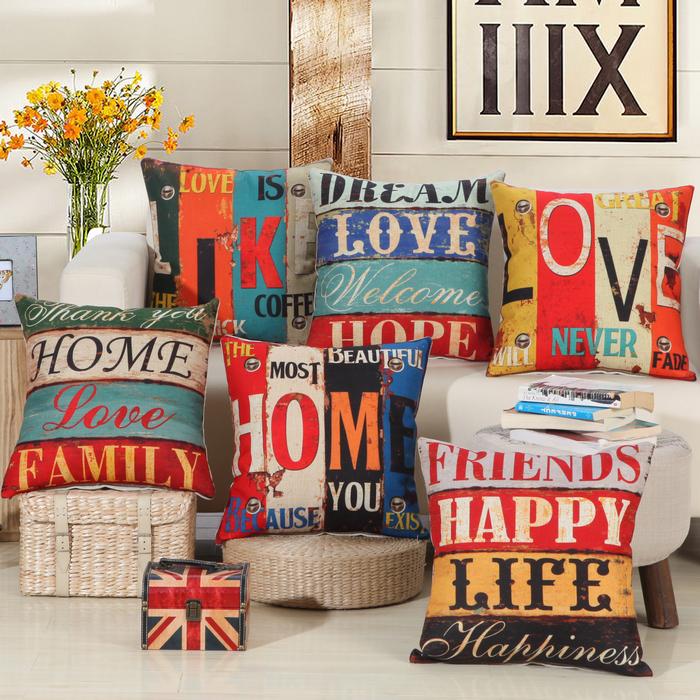 New Arrival Home Decorative Sofa Cushion Cover Throw Pillow Case 18