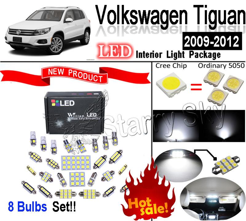 8 фары ксенон белый из светодиодов HID SMD интерьер лёгкие комплект для Volkswagen Tiguan 2009