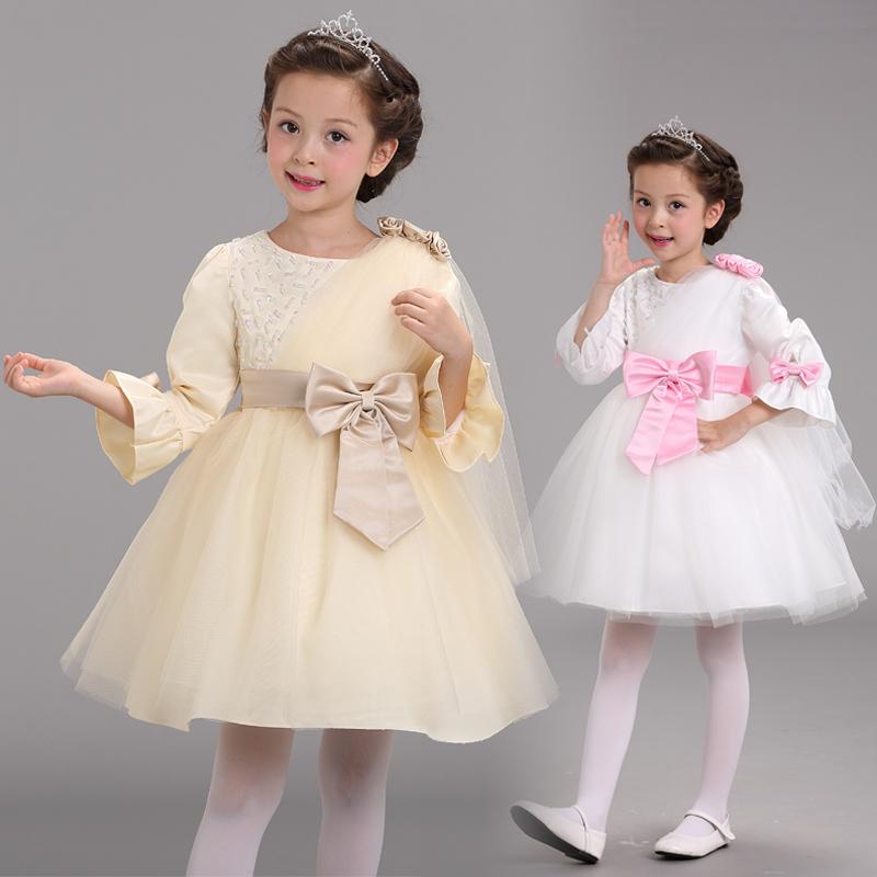 2015 New fashion lace splendid child dress for princess girl party dress wholesale ruffle boutique flower girl dress (UK0266)(China (Mainland))