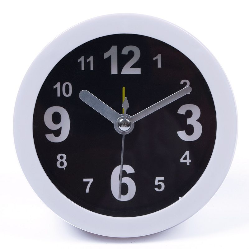 Cute Family Portable Vogue Round Small Table Desk Alarm Solid Color Simple Clock Clocks#66581(China (Mainland))