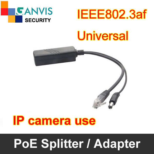 PoE Splitter for IP camera use, IEEE802.3af Passive Transformation, DC 12V output Max 13W, 10/100Mbps, GANVIS CCTV accessories(Hong Kong)