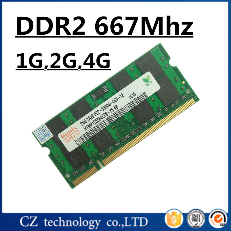 NEW laptop Memory DDR2 667Mhz  1GB 2GB 4GB   PC2-5300S ddr2  1g 2g 4g 667 ram compatible laptop T61,R61,M400,A900 other models<br><br>Aliexpress