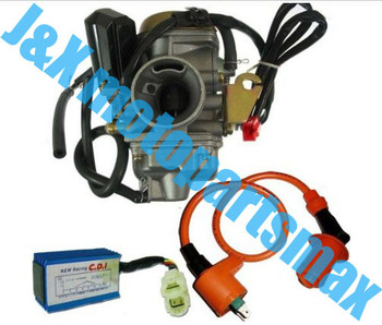 Free shipping @ GY6 150cc Chinese Scooter Carburetor HIGH PERFORMANCE Racing CDI Box Scooter HIGH PERFORMANCE  Coil