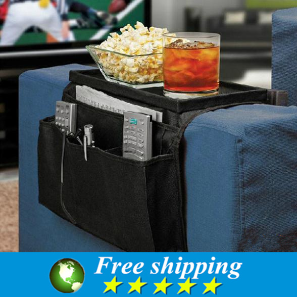 Sofa side hang the bag,Multifunction Thicken Storage Bag,multi-layer multi-format remote control package Black.(China (Mainland))