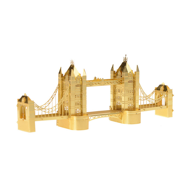 3D Metal Puzzle Tower Bridge DIY Creative Mini Model NANO Kids Toys Adult Gifts Children Educational Puzzles TK0030(China (Mainland))