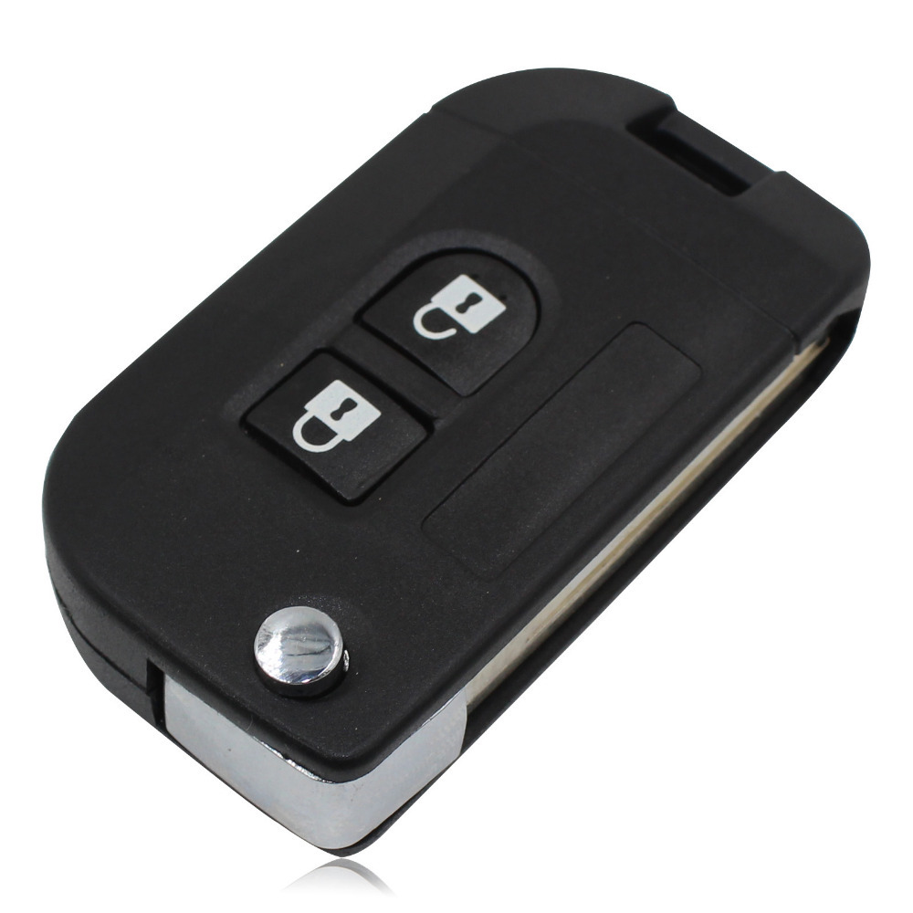 Uncut Flip Folding Remote Key Shell Car Case Fob Cover for Nissan Micra Navara Almera Note
