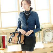 2016 New Hot! fashion big size jacket women Slim-fitting leather jacket women motorcycle genuine leather jacket coat women M-3XL(China (Mainland))