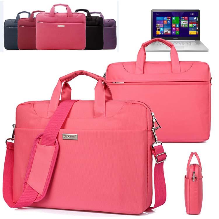 Nylon Men Lady Laptop Shoulder Bag Handbag Case Tote Briefcase Messenger for 15'' Asus ZenBook N550/ NX500/ Pro UX501 Ultrabook