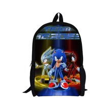 Fashion Children SEGA Game Printing Backpack for Boys,Sonic the Hedgehog Backpack Child Cartoon Backpacks,Kids Sonic Bagpack(China (Mainland))