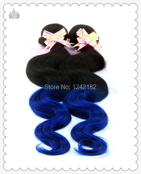 Здесь можно купить  black blue Two kinds of color chinese virgin hair extensions 12 to 30 inches remy human hair extension body wave hair weave  Волосы и аксессуары