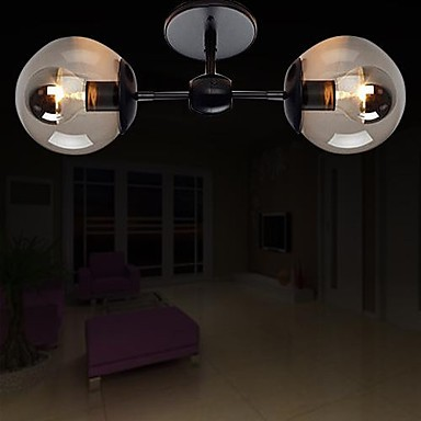 Modern Simple Artistic Ceiling Lamp With 2 Lights For Living Room Light Fixtu
