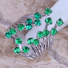 New Sizzling Promote ! Inexperienced Emerald 925 Sterling Silver Ring For Girls Measurement 5 / 6 / 7 / eight / 9 / 10 / 11 / 12 Free Reward Bag S0222
