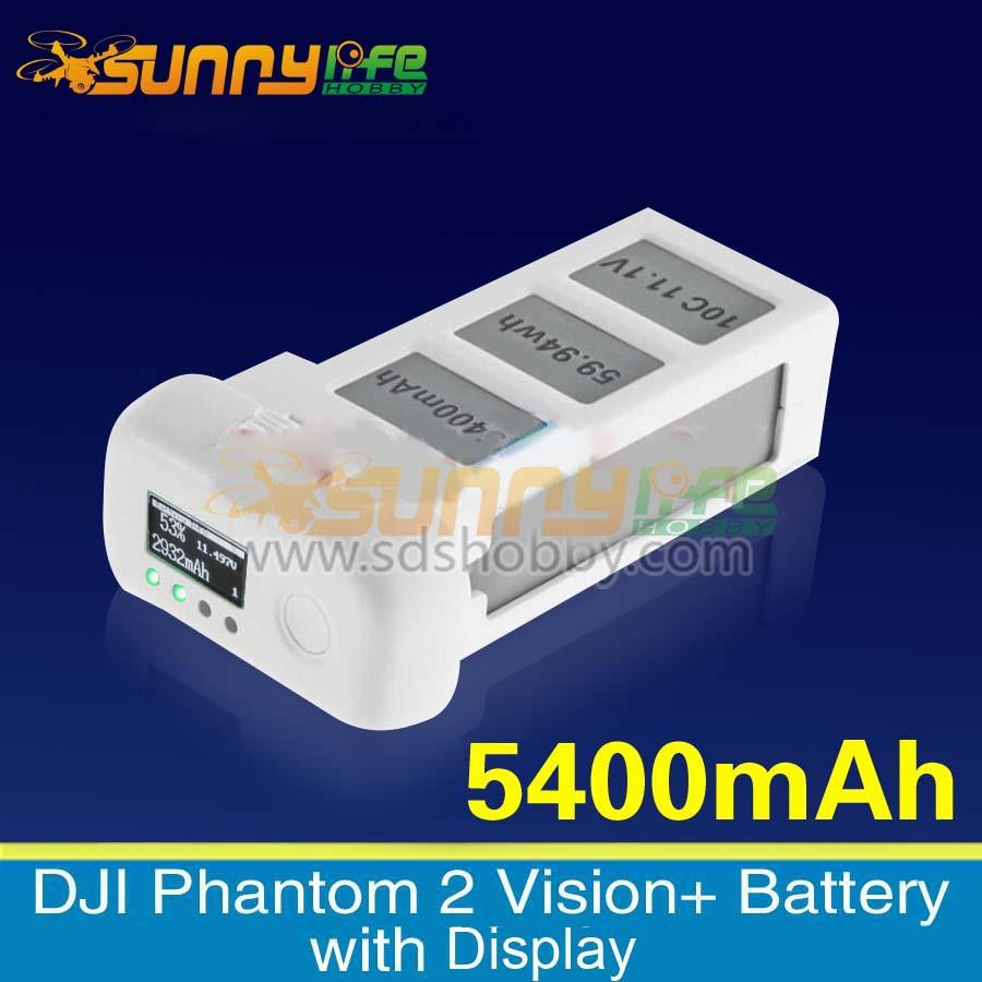 DJI Phantom 2 Vision+ 11.1V 5400mAh 59.94Wh 10C Battery with Monitor for Phantom 2/ Vision+Quad-copter/Helicopter(China (Mainland))