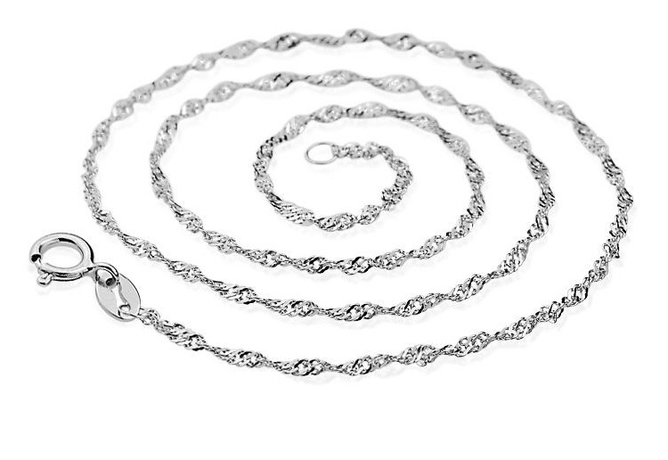 Sale 925 Pure Silver Chain Necklace For Women, Sterling Silver Chain Jewelry 18 Inch, Chain Italian Silver Sterling(China (Mainland))