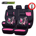 2016 New Hot Design Red Green Pink Full Seat Cover Universal Cartoon Car Seat Covers Fit