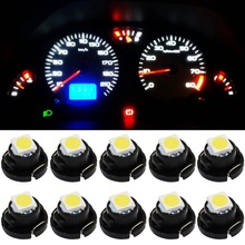 10pcs T4.2 LED 5050 SMD Car Board Instrument Panel Bulb lamp DC 12V White / Red / Blue / Green / Yellow instruments Light bulbs(China (Mainland))
