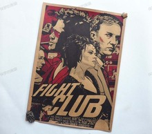 Posters for walls Fight club Movie Vintage Paper Posters Retro art Wall Decoration vintage poster wall sticker 30X42 CM(China (Mainland))