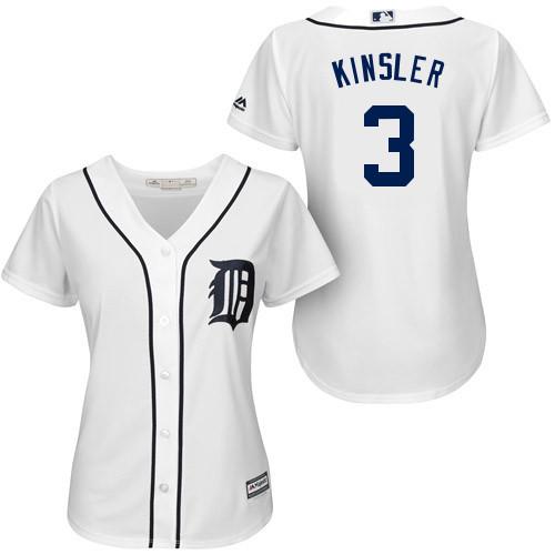 Hot Sale Detroit Tigers #3 Ian Kinsler Cool Base Jersey Women's Embroidery and Stitched Baseball Jerseys Wholesale Mix Order(China (Mainland))