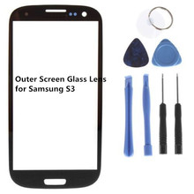1PC Original Replacement Screen Glass Lens for Samsung Galaxy S3 i9300 SIII  Black+Tools+Adhesive+Free Shipping(China (Mainland))