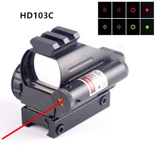 Hunting Scopes Holographic Reflex Sight Green red Dot With Dovetail Red Laser position Laser Scope Optics Rifle Scope Collimator(China (Mainland))
