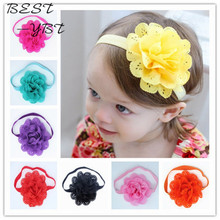 Fancy Kids Headband European American Style Korean Mesh Elastic Children's Hairband Baby Colorful Flower Cute Hair Accessories(China (Mainland))