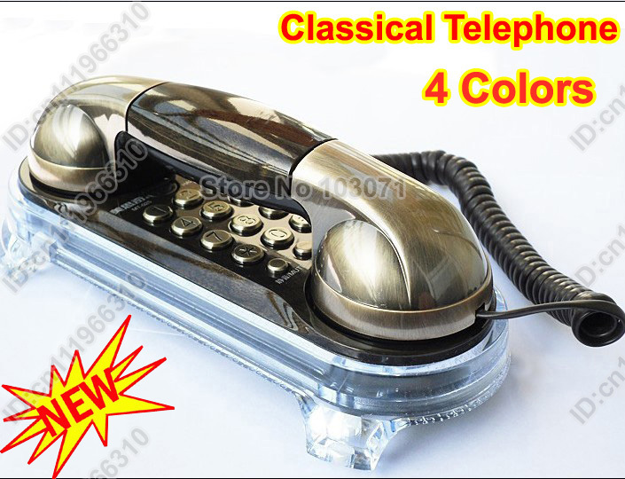 New Fashion Novelty Elegant Vintage Retro Ancient Antique Classical Style Telephone Wall Cord Corded Phone Home Office Desk Gift(China (Mainland))