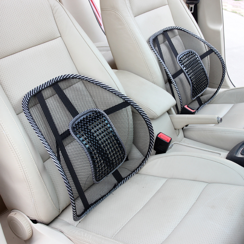 1pcs black mesh lumbar back brace support office home car seat cushion comfy summer cool. Black Bedroom Furniture Sets. Home Design Ideas