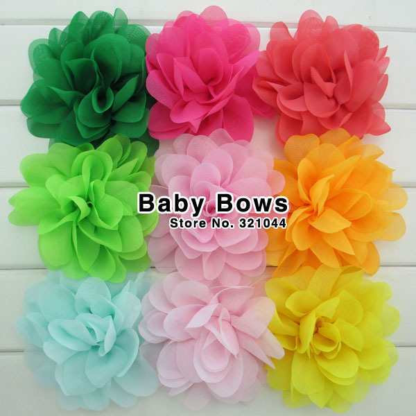 1000pcs/lots Wholesale Multilayer Chiffon Silk Flowers Without Clips Flowers For Baby Girls DIY Hair Accessories Free ShippingОдежда и ак�е��уары<br><br><br>Aliexpress