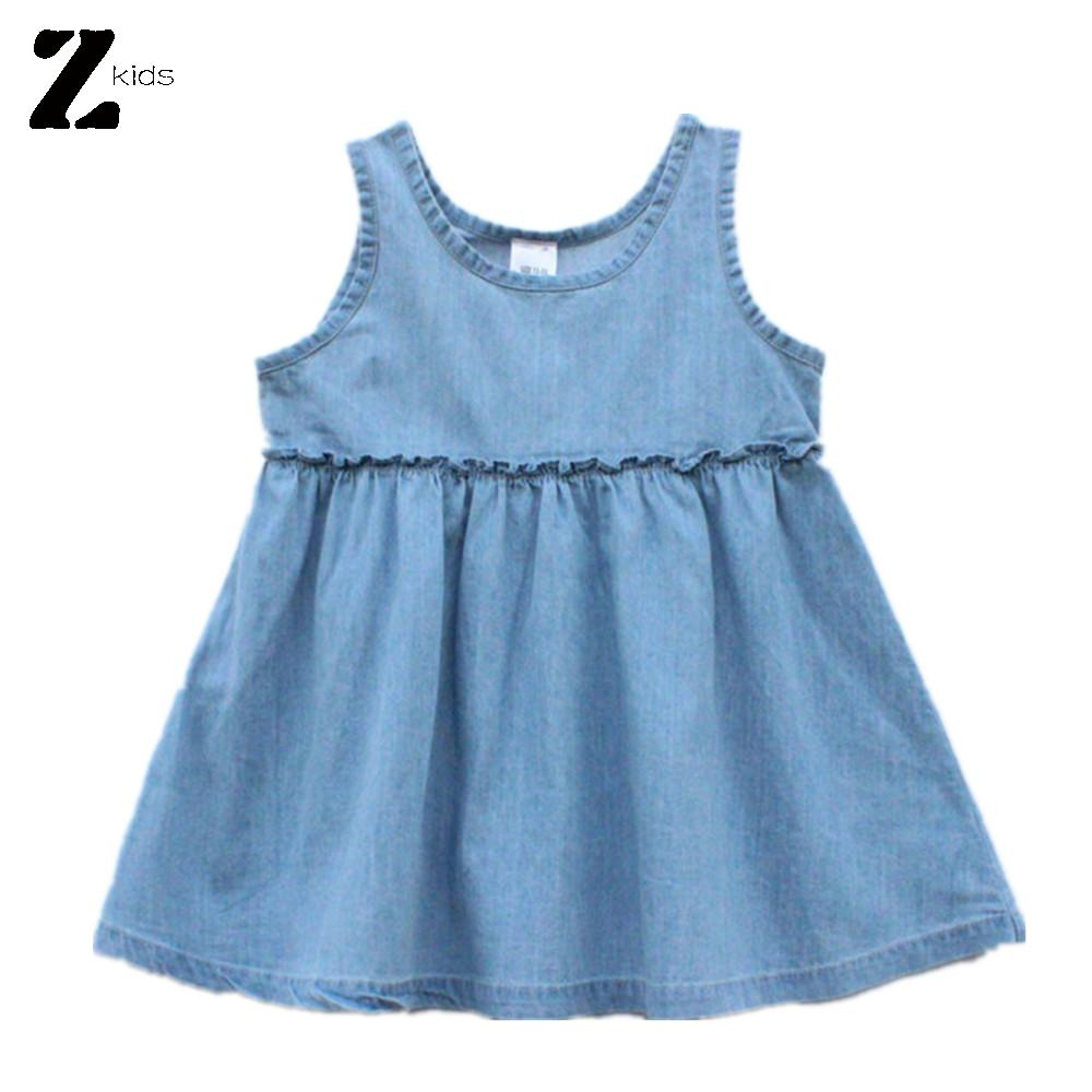 0-2 Years Carters Fashion New Summer Baby Girl Sleeveless Blue Cotton Infant Clothes Baby Wear Toddler Baby Nice Dress<br><br>Aliexpress