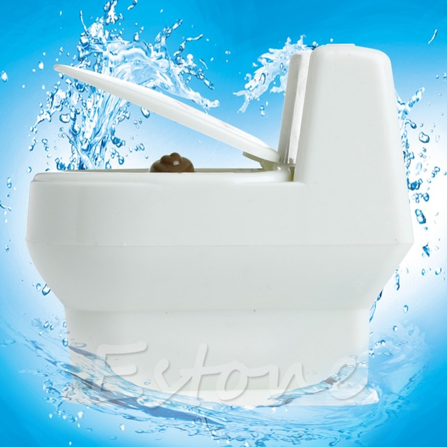 Mini Interesting Funny Toilet Bowl Supernatural Water Gun Toy  For Kids Children