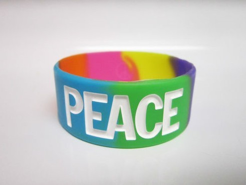 Hot selling weather resistant custom silicone wristbands SW-01(China (Mainland))