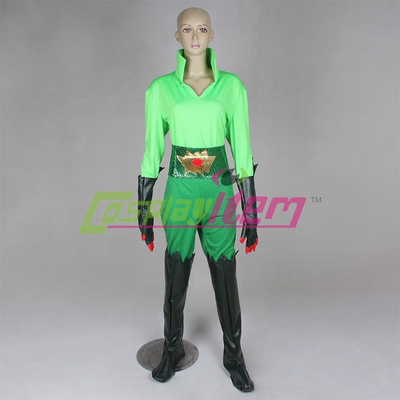 (gloves & shoe cover)Customized movie Batman and Robin Poison Ivy Cosplay Costume Sexy Women Green Jumpsuits Halloween Costume