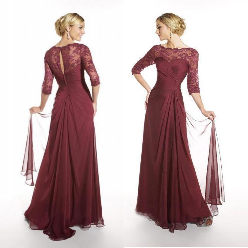 Burgundy Mother Of The Bride Dresses - Ocodea.com