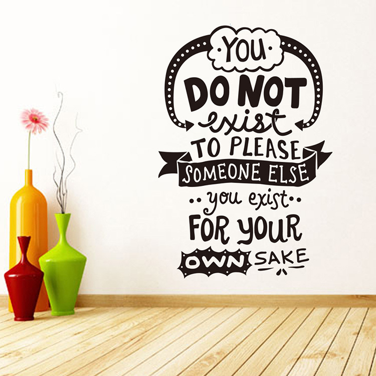You Do Not Exist Vinyl Quote Wall Stickers Home Decor Living Room Diy Art Decals Removable Wall