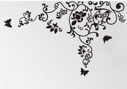 Free Shipping 160*100cm Hot Selling Wall Decal DIY Decoration Fashion Romantic Flower Wall Sticker /Home Sticker Manufacture(China (Mainland))