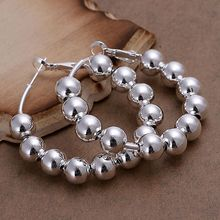 Buy silver plated earrings fashion jewelry earrings beautiful earrings high 8M Bean Earrings fy yu for $1.25 in AliExpress store