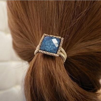 Korea style match fashion square crystal hair bands women,designer accessories,girl's brand jewelry,HCA-TS081 - Trendy Me (Min. Order is $10,mix order store)