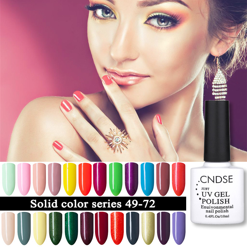 CNDSE 96 Solid Color Gel Nail Polish LED UV Gel Long-lasting Soak-off UV Fingernail Gel Nail Varnish 10ML Gelpolish(China (Mainland))