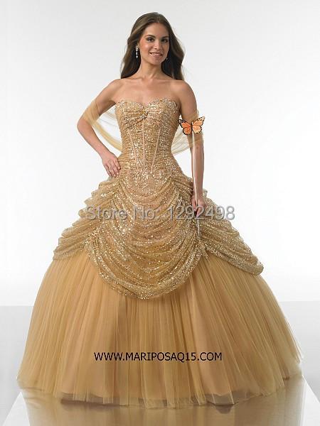 Золотые платья