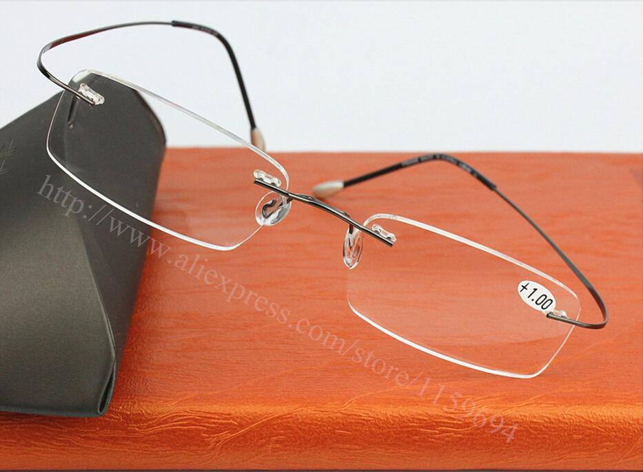 Fashion Titanium Brand Silhouette Glasses Frame Eyeglasses Men women With Original Case Oculos de grau +1.0 1.5 2.0 2.5 3.0 3.5(China (Mainland))