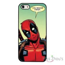 Deadpool Marvel Comic Strip back skins mobile cellphone cases cover for iphone 4/4s 5/5s 5c SE 6/6s plus ipod touch 4/5/6