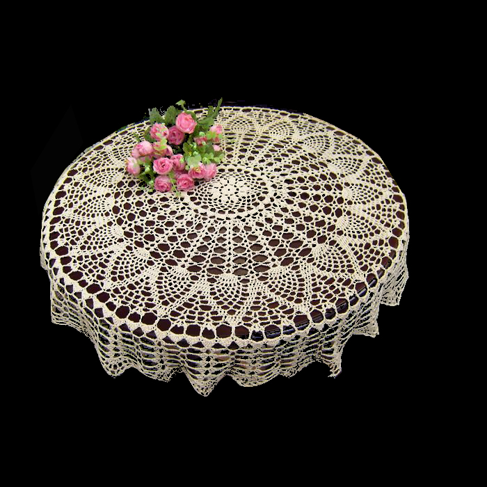 90cm Hand made Crochet Vintage Knit Retro Decorative Hook Engraving Flower Weaved/Knitted Round Tablecloth(China (Mainland))