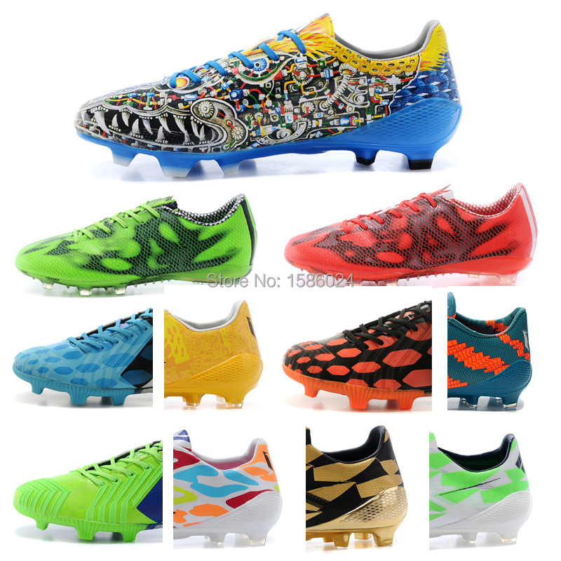 Best Quality FG SG F50 Soccer Shoes Football Boots New More Color model Soccer Boots in Stock(China (Mainland))