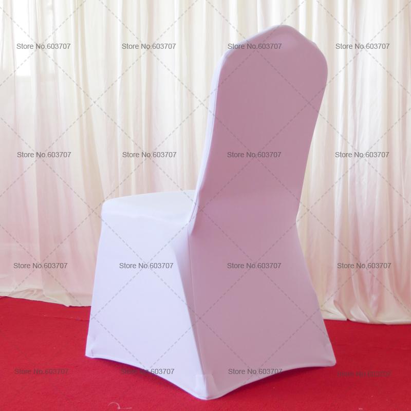 100pcs wholesale wedding chair cover white beige universal scuba thick
