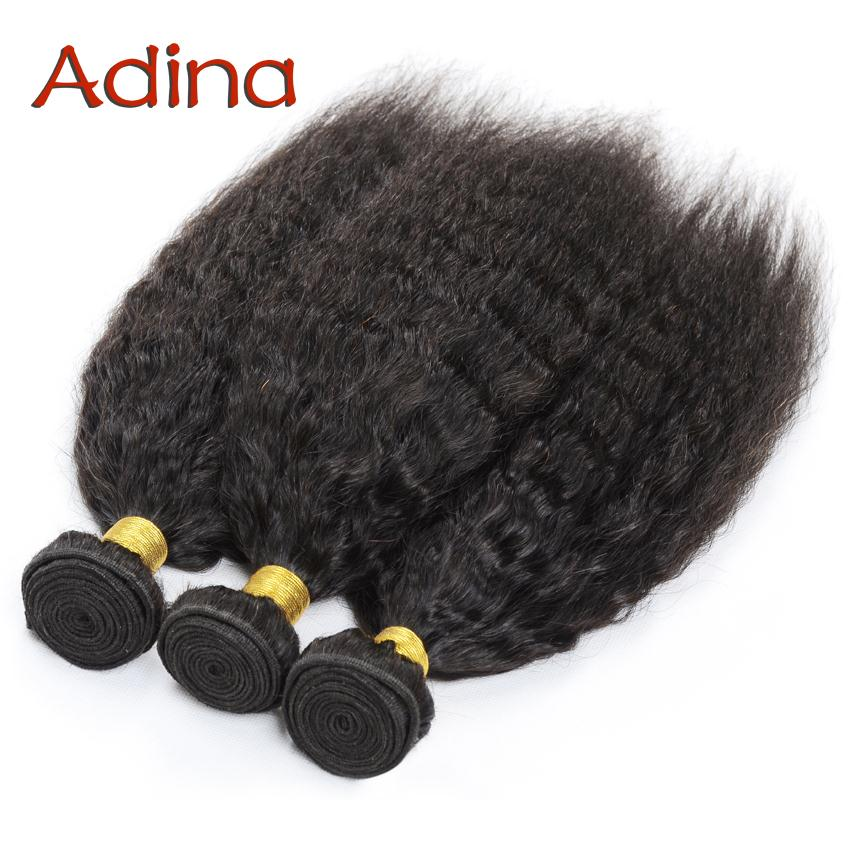 6A Virgin Mongolian Kinky Straight Weave Human Virgin Hair Queen Hair Products Mongolian Coarse Yaki Hair Extensions