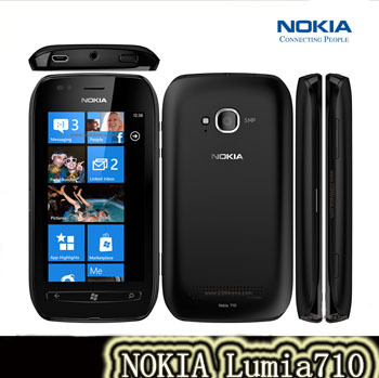 Original Refurbished Unlocked Nokia Lumia 710 8GB Storage 5MP WIFI GPS Windows OS Mobile Phone Free Shipping(China (Mainland))