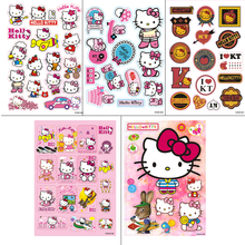 5Desighs A4 Size Hello Kitty Cartoon doodle Sticker Computer Laptop Skin luggage Motorcycle Car Styling Waterproof Decal - Trading Company store