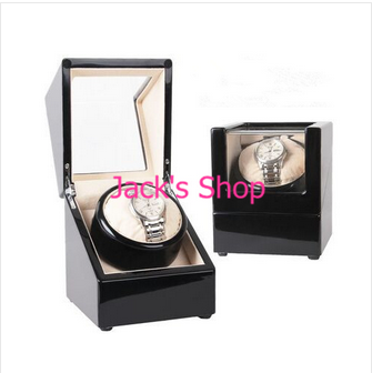 New Black Automatic Watch Winder for 1 Single Watch Mechanical Wooden Watch Winder(China (Mainland))