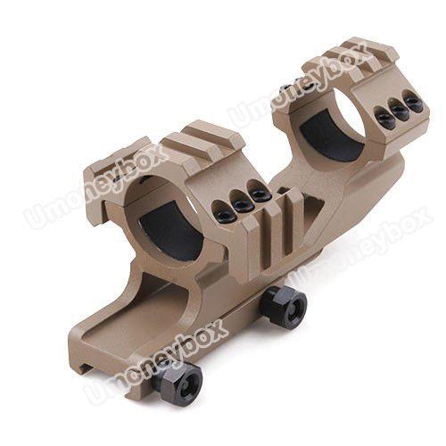 30mm Dual Rings Aluminum Alloy Rifle Scope 20mm rail Mount Bracket - Sand & Black Color(China (Mainland))